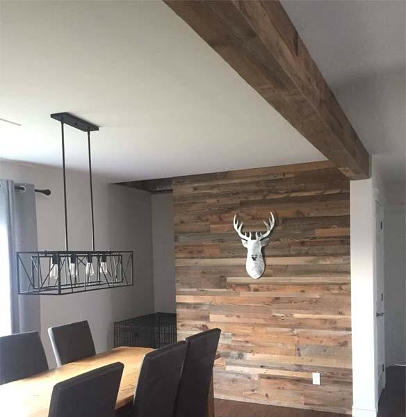 barn board beams enclosed