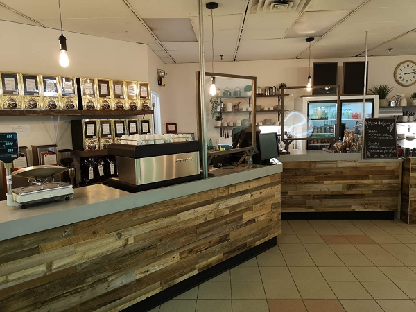 bar counter facing