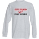 give blood play rugby long sleeve t-shirt